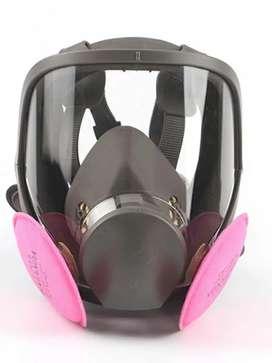 Respirador máscara Fullface 6800 + filtros 3m 2091