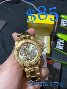 Reloj  Invicta Pro Diver 1774 18K dorado para hombre