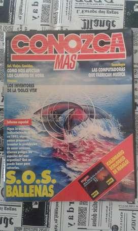 Revista Conozca Mas. Año 1992 S.O.S Ballena