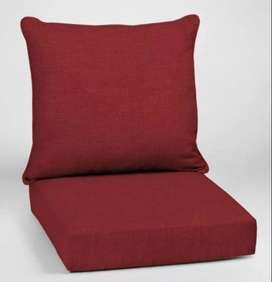 Juego cojines asiento rojo para exteriores Leala Texture - ROJO