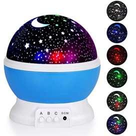 Proyector led estrellas luna giratorio multicolor lampara de mesa rgb supli led