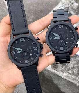 Reloj Fossil Nate Negro Para Hombre Nuevo Original         Diesel Invicta Guess Calvin Klein