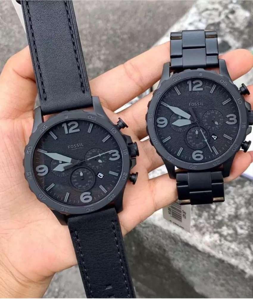Reloj Fossil Nate Negro Para Hombre Nuevo Original         Diesel Invicta Guess Calvin Klein 0