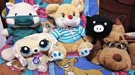 Peluches juguetes cerdo veterinario, little pet shop