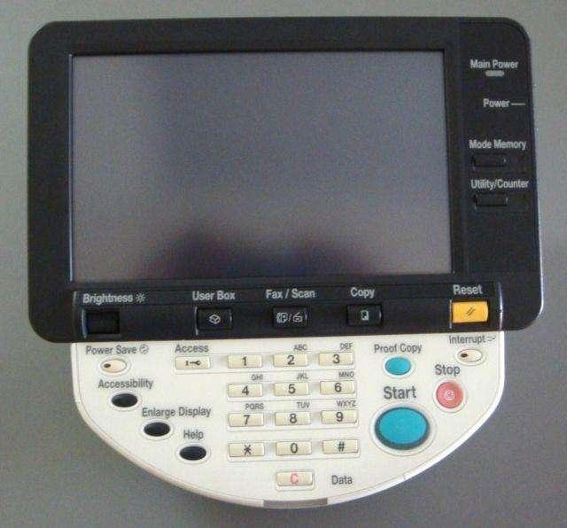 Panel de control Konica Minolta Bizhub C451 C550 C650 0