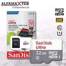 Micro Sd Sandisk 32gb Class 10 Original - Garantía