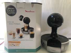 Cafetera Dolce Gusto Drop Moulinex Silver Capsulas Nescafe