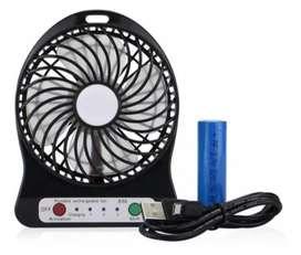 Ventilador Recargable Portátil Abanico Con Linterna USB