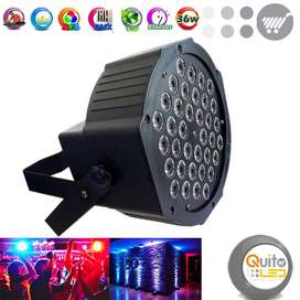 Tacho 36 focos RGB Audioritmico  Quitoled