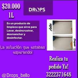 Drops:: multifuncional.limpia juntas ,paredes, baños