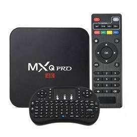 Combo Smart Tv Box Mxq Pro 4k Android Convertidor Smart Tv + Mini Teclado