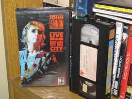 John Lennon ‎- Live In New York City - 1986 VHS