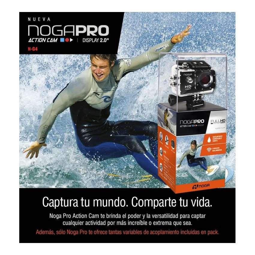 CAMARA NOGA PRO G4 ACTIONCAM SUMERGIBLE 30MTSFULLHD1080P 900MAH WIF HDMI 0