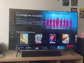 Gran Oferta: TV SAMSUNG 55 Pulgadas 132 cm 55TU6900 4K-UHD LED Plano Smart TV + Barra de sonido HW-T400