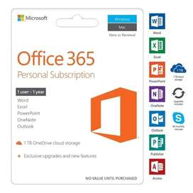 Licencia Office 365 Personal