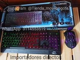 Combo gamer  Teclado + Mouse  retroiluminados