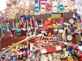 Vendo artesanías de madera