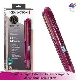 Plancha remington triple infusión