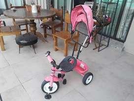 Triciclo Rosado Bebitos