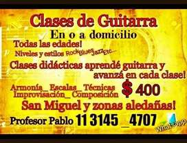 Clases de guitarra en San Miguel y zonas aledañas