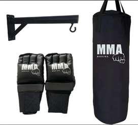 Combo tula boxeo, guantes y soporte