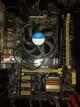 Combo Board Asus h87m-e procesador i54670 y ram 16gb
