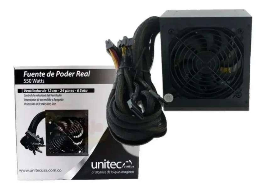 Fuente De Poder Unitec Elite 550w Reales 0