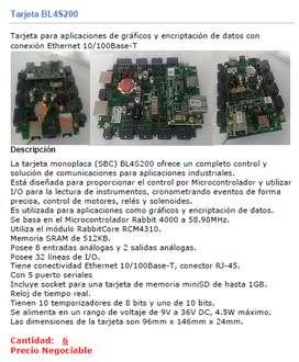 Tarjeta Placa Única (SBC) Serie BL4S200