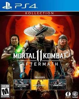 MORTAL 11  KOMBAT AFTERMATH ( JUEGO PS4- FORMATO FISICO- NUEVO)