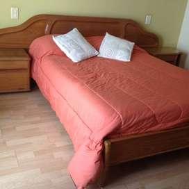 Juego dormitorio en roble macizo