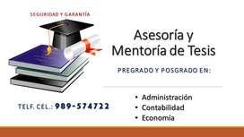 ASESORÍA Y MENTORÍA DE TESIS