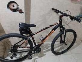 Bicicleta de 9 cambios