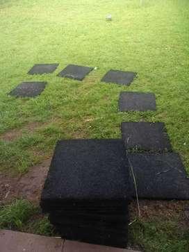 Baldosas de caucho reciclado 50x50