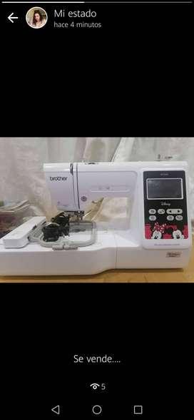 Vendo maquina de bordar marca Brother PE550D