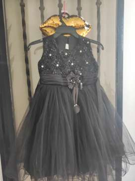 Vestido elegante negro talla 12
