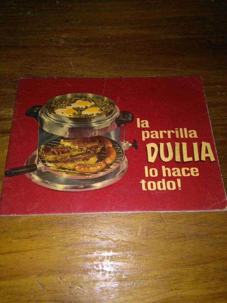 Recetario Parrilla Duilia Lo Hace Todo folleto años 1960s 0