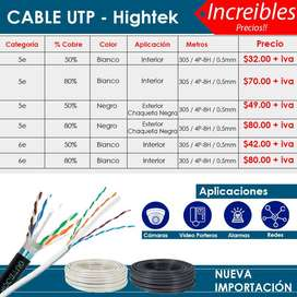 Rollo de Cable UTP CAT5e y CAT6 Interior Blanco  Cable para Redes Ethernet  Internet