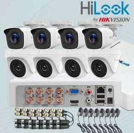 Instalación de 8 cámaras de seguridad HiLook!!