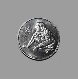 Moneda de Corea del Norte sin circular, 1/2 chon, 2002, fauna