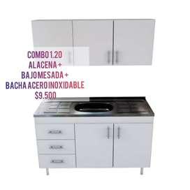 Alacena+bacha+bajo mesada