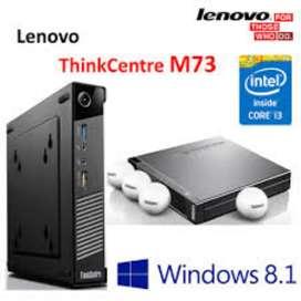 Lenovo M73 Tiny – Intel Core i3-4160T (3M Cache 3.10GHz), 4GB DDR3  500GB 7200rpm HDD,