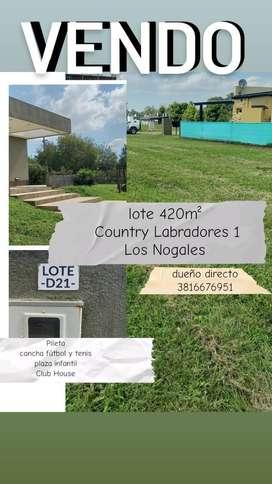 Terreno en country labradores, desarrollado, con pileta, salón multiusos, cancha fútbol 5 iluminada, plaza infantil