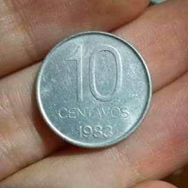 Argentina 10 Centavos 1983 - Aluminio