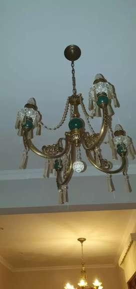 Lámpara de techo con caireles