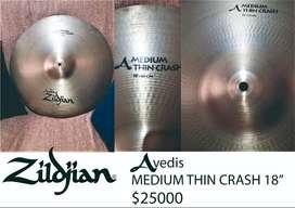 Crash Zildjian Avedis Medium Thin 18