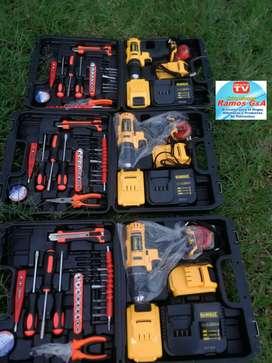 Taladro atornillador inalambrico Dewalt 24 voltios percutor atornillador inalambrico gratis obsequio oferta limitada