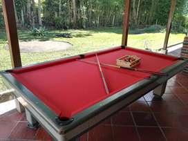 Mesas de billar y pool profesionales en pizarra