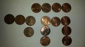 Lote monedas extranjeras