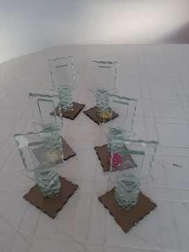 Adornos de vidrio para mesas de restaurante o similares