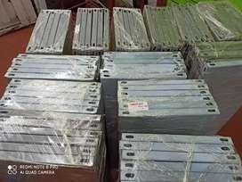 Estantes metálicos vitrinas tablero ranurado mdf color verde